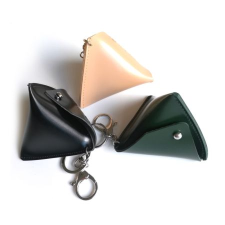 various color triangle coin pouch