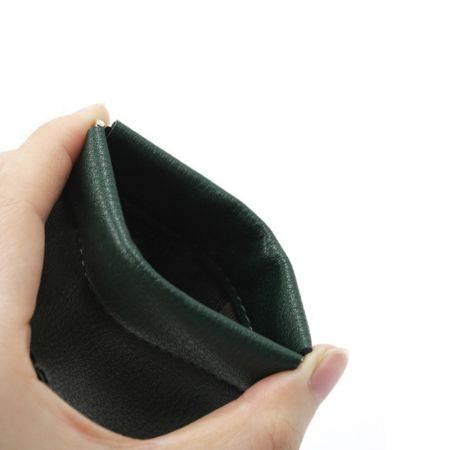 leather squeeze coin wallet
