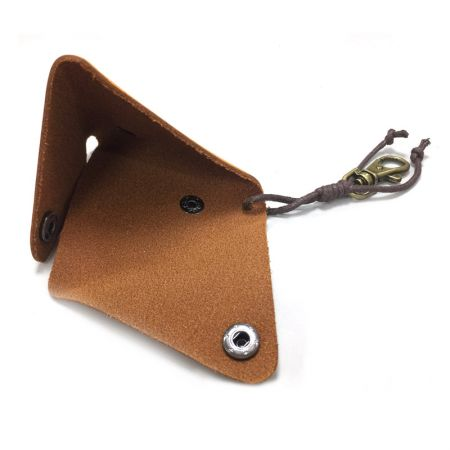 leather flat triangle coin wallet