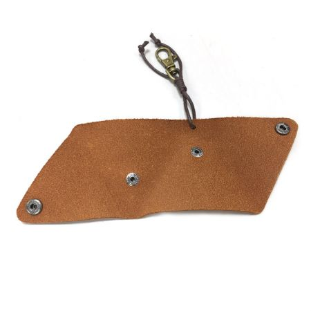 leather flat triangle coin pouch