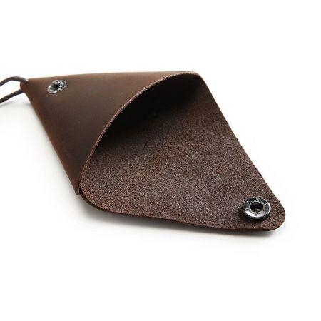 leather mini triangle coin purse