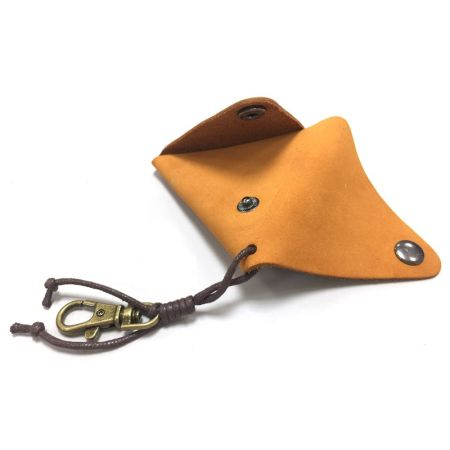 leather small triangle coin wallet