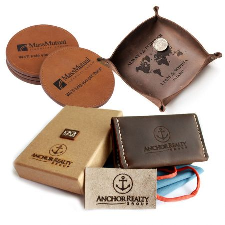 Custom Leather Anniversary Gifts & Business Corporate Giveaways Ideas Best 5 - Custom Leather Gifts Ideas