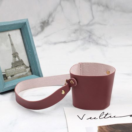 leather drink cup sleeve