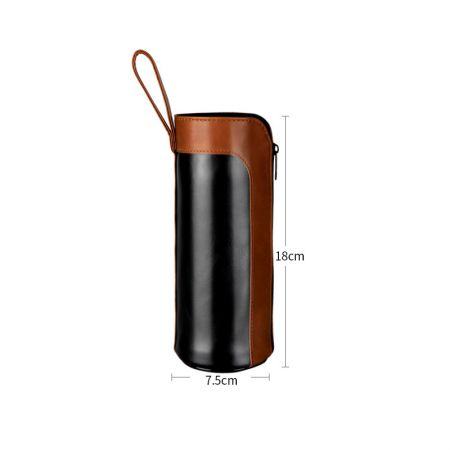 leather thermos bottle sleeve