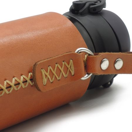 leather drink bottle cover sleeve