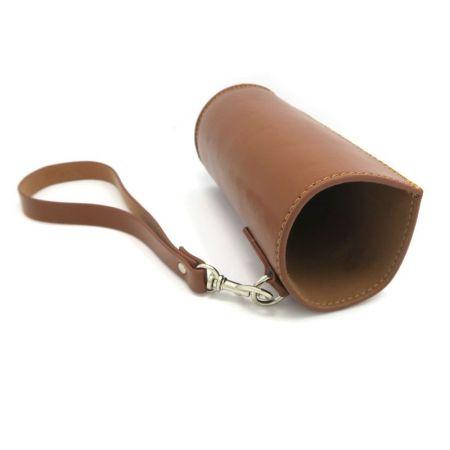 leather drink bottle sleeve holder