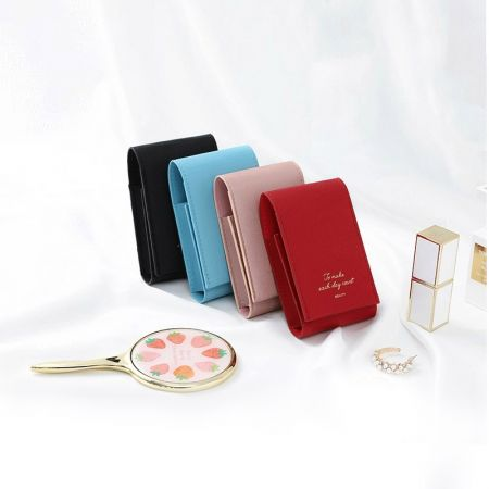 Rectangle Leather Compact Mirror