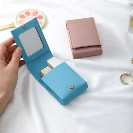 Rectangle Leather Cosmetic Mirror