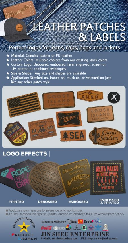 MADE TO ORDER LEATHER PATCHES & LABELS - Customize Leather Patches & Labels