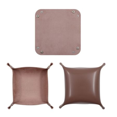 square PU leather storage tray