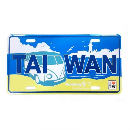 Taiwan Souvenir metal postcard