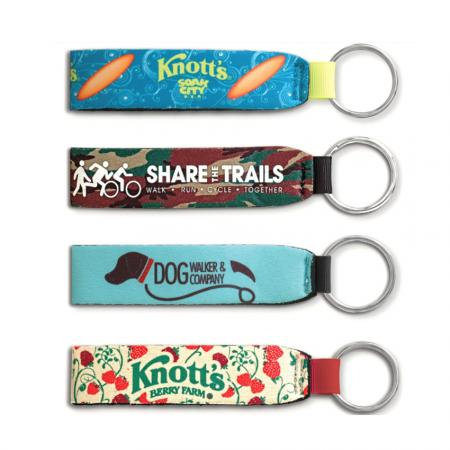 custom printed cheap neoprene keychains