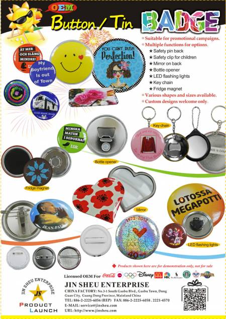 Custom Button Badge/ Personalized Tin Badges - Custom Button Badge/ Personalized Tin Badges
