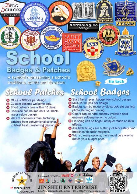 Custom University Pin Badges & School Patches - Custom University Pin Badges & School Patches