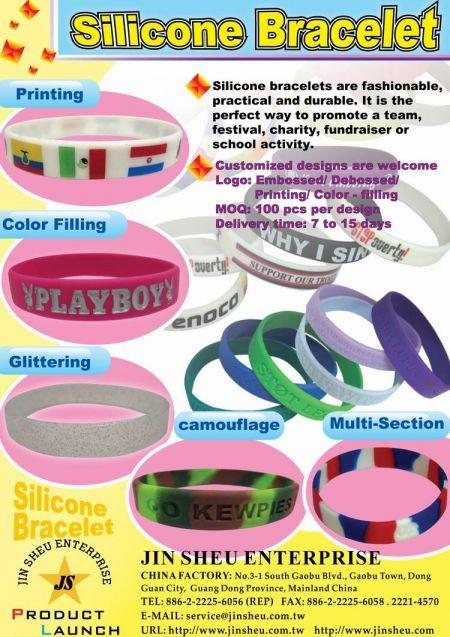 Custom Silicone Bracelets - Custom Silicone Bracelets