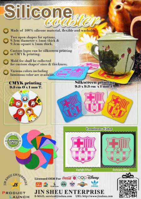 Custom Silicone Drink Coasters - custom promotional silicone drink coasters