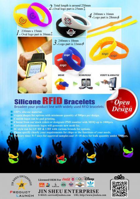 Silicone RFID Bracelets - Silicone RFID Bracelets