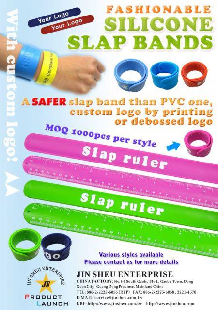 Fashionable Silicone Slap Bands - Fashionable Silicone Slap Bands