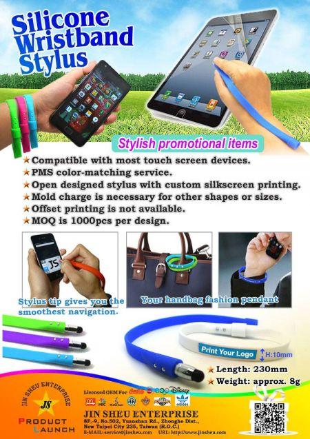 Silicone Wristband Stylus - Silicone Wristband Stylus