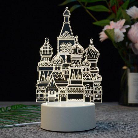 Russia Tourist Souvenir 3D creative visualization night lamp