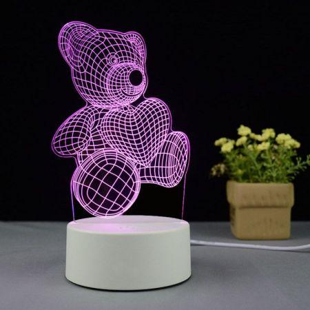 Bear 3D creative visualization lamp
