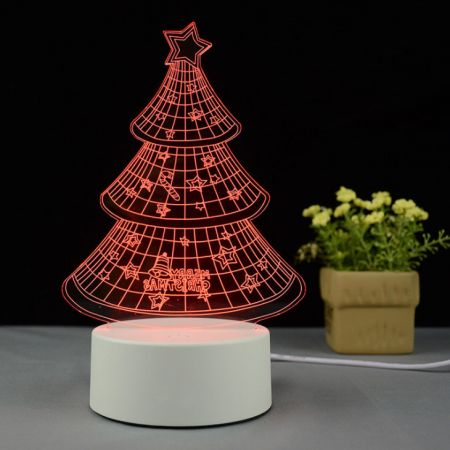 Christmas Tree 3D illusion LED lamp