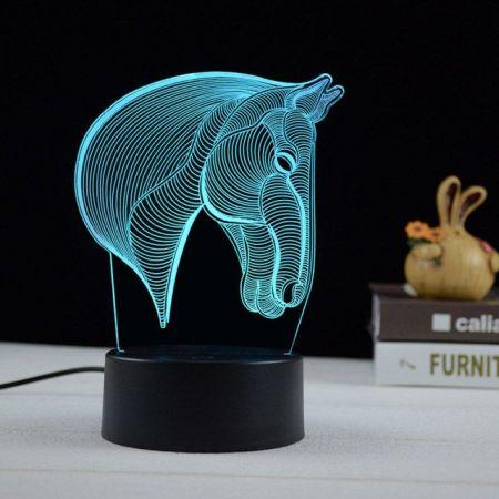 Horse 3D acrylic night lamp