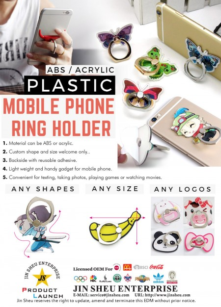 Plastic Phone Ring Holder - Plastic phone Ring Holder