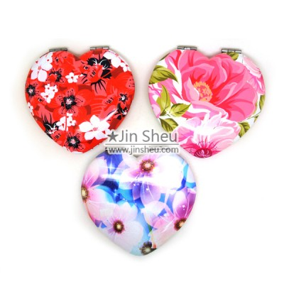 Pocket Cosmetic Mirror with Custom Printed - Pocket Size Cosmetic Mirror with Custom Printing