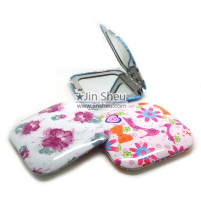 Foldable Double Sided Compact Mirror - Cute Foldable Square Double Sided Compact Mirror