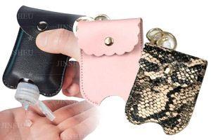 Leather Hand Sanitizer Holder