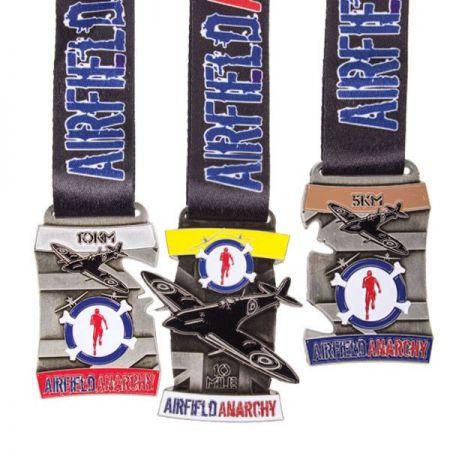 puzzle style interlocking series medals