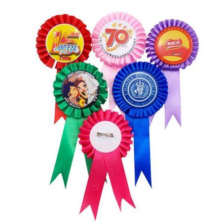 Rosette Ribbon Awards - Winner Ribbon with custom logo