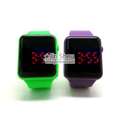 Square Fashionable Silicone LED Watch - Square Fashionable Silicone LED Watch