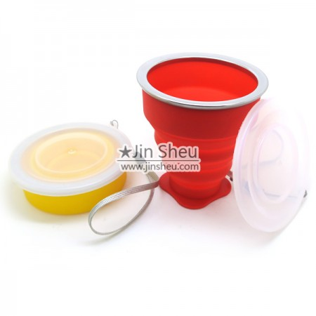 Collapsible Portable Silione Water Cup - Outdoor Silicone Portable Cup