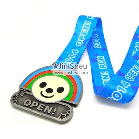 soft enamel die struck sport medal