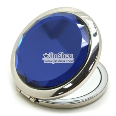 Novelty Glass Stone Pocket Mirror - Novelty Glass Stone Pocket Mirror