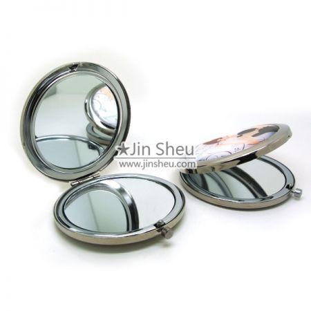 Custom Compact Mirror (Round, Square) - Compact Mirror with Custom Epoxy Sticker Logo