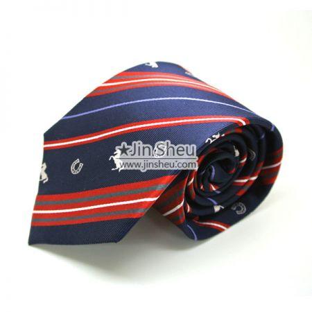 Suit Tie with Woven Logos - Custom Woven Logos on Necktie