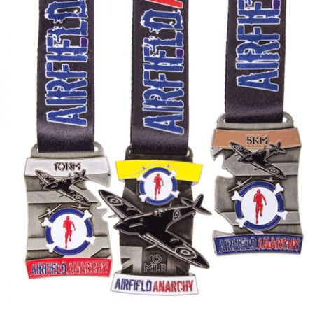 Medals with Neck Ribbons - Custom Sports Ribbon Medal