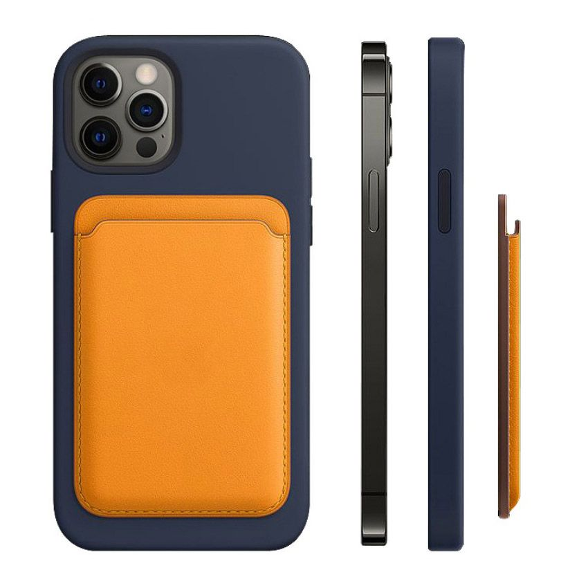 Magnetic Leather Card Holder For iPhone12