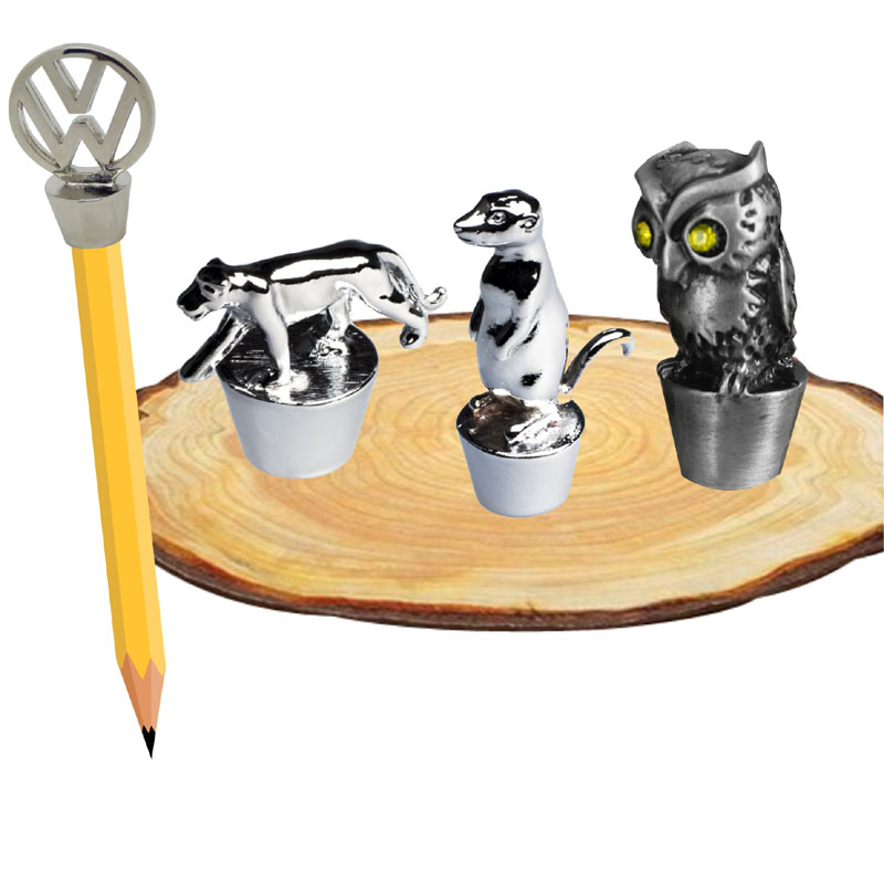 Promotional metal pencil toppers