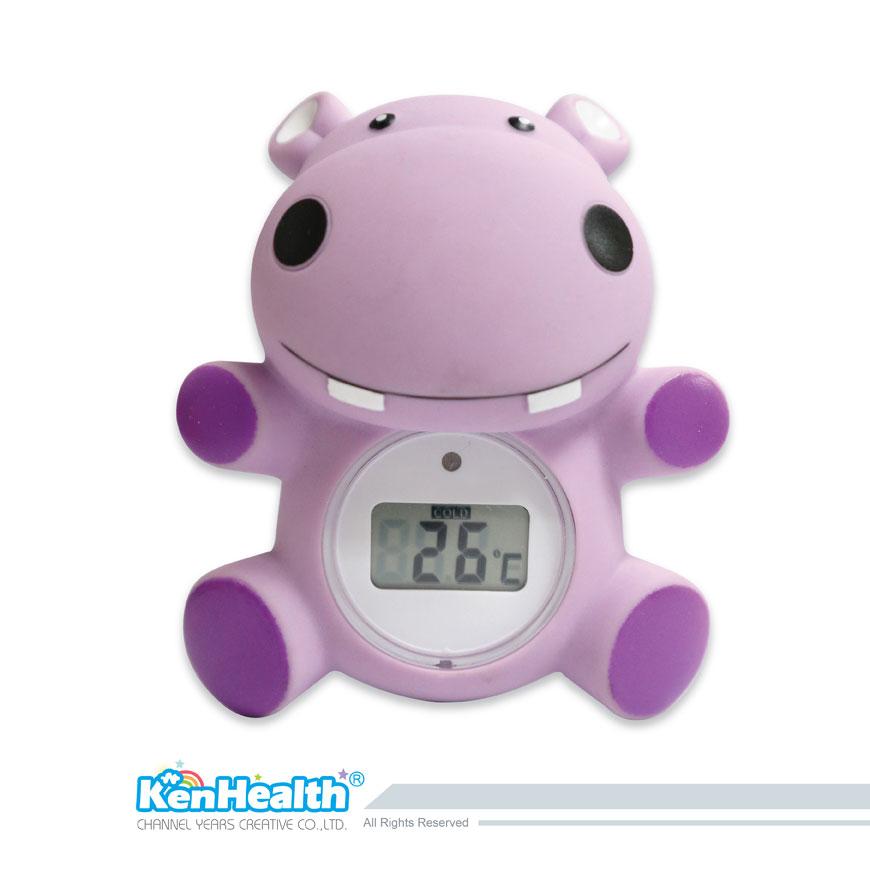 Thermomètre de bain bébé hippopotame - L'excellent outil de thermomètre pour préparer la bonne température de bain, apporte un plaisir de bain sûr et pour les bébés.