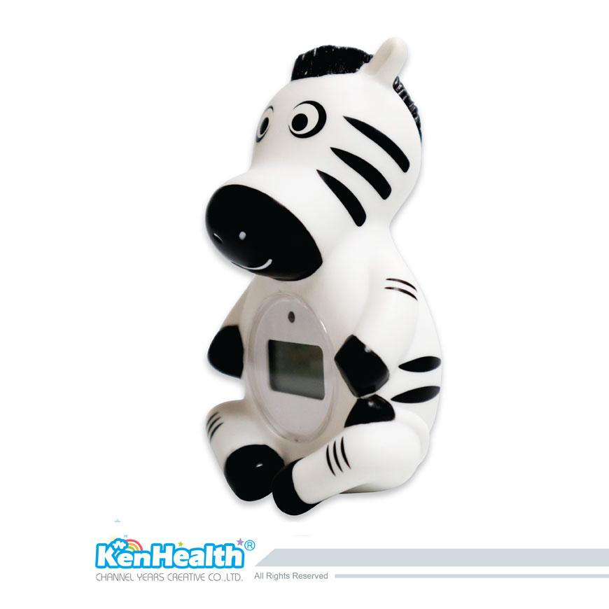 Thermomètre de bain bébé zèbre - L'excellent outil de thermomètre pour préparer la bonne température de bain, apporte un plaisir de bain sûr et pour les bébés.