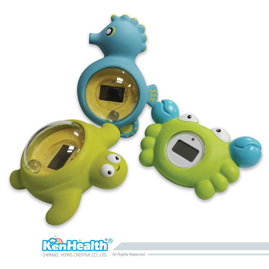 L'excellent outil de thermomètre pour préparer la bonne température du bain, apporter un bain sûr et amusant pour les bébés.