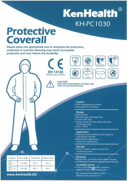 Medical Protective Coverall - Personal daily use to Epidemic prevention products