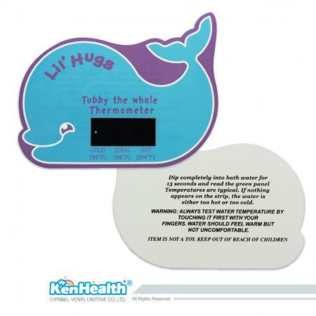 Thermomètre de bain Carte Baleine - L'excellent outil de thermomètre pour préparer la bonne température de bain, apporte un plaisir de bain sûr et pour les bébés.