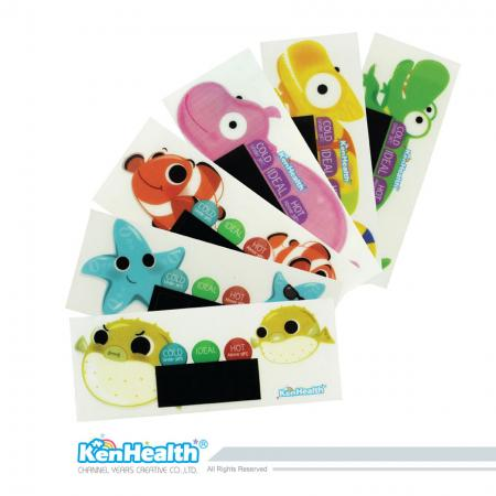 Bath Thermometer Sticker Sea & Land Series - The excellent thermometer tool for preparing the right bath temperature, bring safe and bath fun for babies.