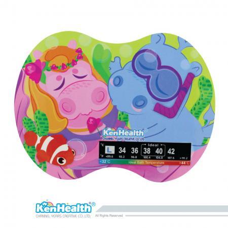 Série de contes d'autocollants de thermomètre de bain - L'excellent outil de thermomètre pour préparer la bonne température du bain, apporter un bain sûr et amusant pour les bébés.